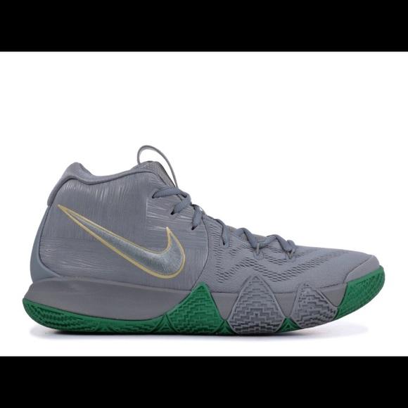 wholesale dealer 7163c ff94f Boys Nike Kyrie 4 Gray/Green Size 4 Sneakers